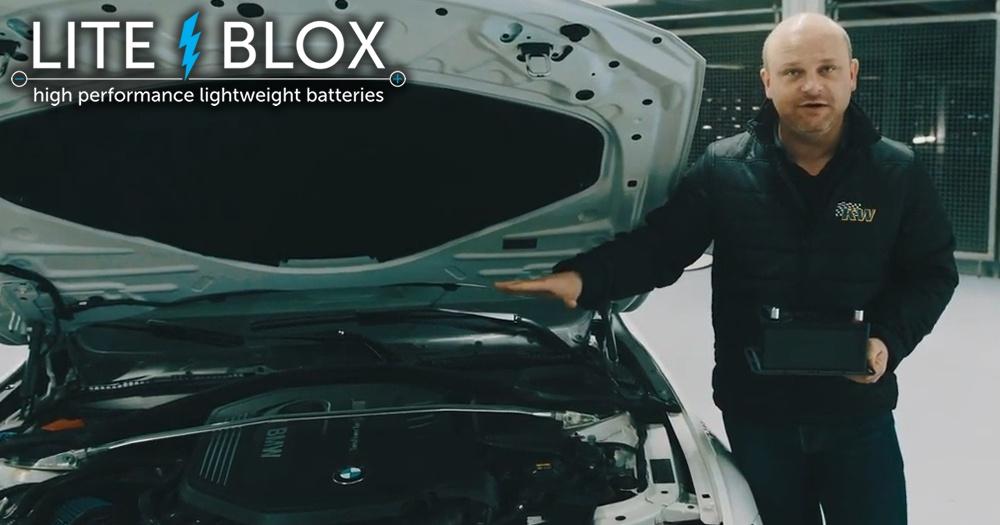 25kg Gewicht sparen mit der Autobatterie im BMW 340i