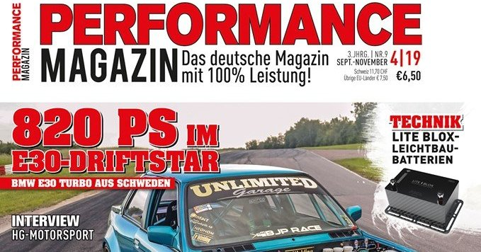 LITE↯BLOX Technik-Bericht im Performance Magazin