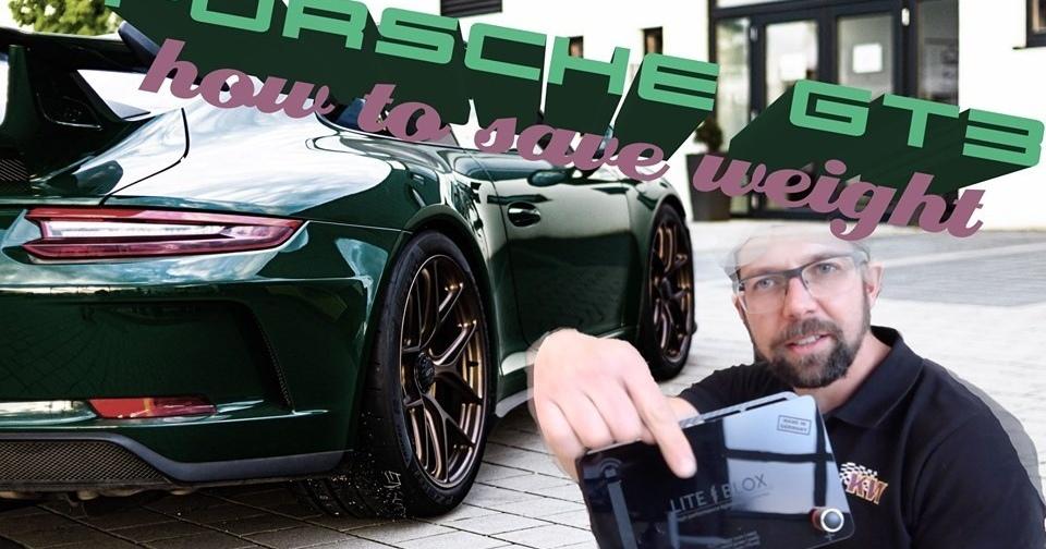 Porsche 991: Gewicht sparen durch Tausch der Batterie